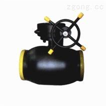 暖通系統蝸輪全焊接球閥