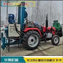 華豫四輪車載反循環打井機 5寸小型鉆井機