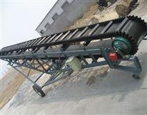 鄭州熱銷大傾角皮帶輸送機擋邊上坡機